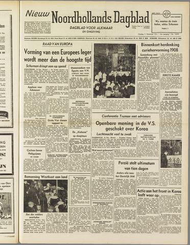 Nieuw Noordhollandsch Dagblad : voor Alkmaar en omgeving 1951-12-11