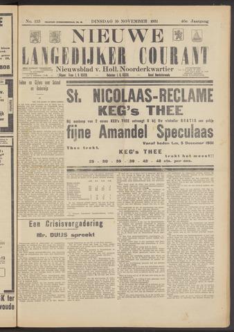 Nieuwe Langedijker Courant 1931-11-10
