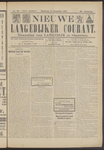 Nieuwe Langedijker Courant 1920-08-14