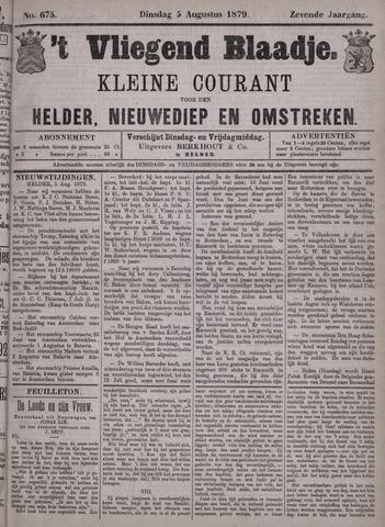 Vliegend blaadje : nieuws- en advertentiebode voor Den Helder 1879-08-05
