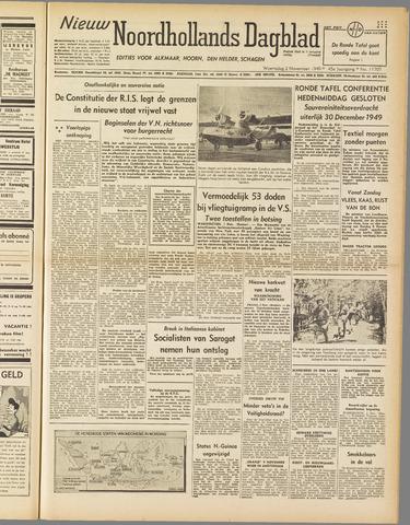 Nieuw Noordhollandsch Dagblad : voor Alkmaar en omgeving 1949-11-02