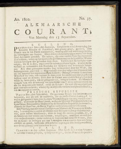Alkmaarsche Courant 1802-09-13