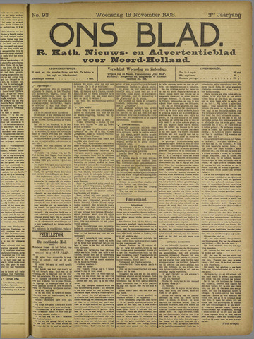 Ons Blad : katholiek nieuwsblad voor N-H 1908-11-18