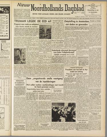 Nieuw Noordhollandsch Dagblad : voor Alkmaar en omgeving 1949-01-21