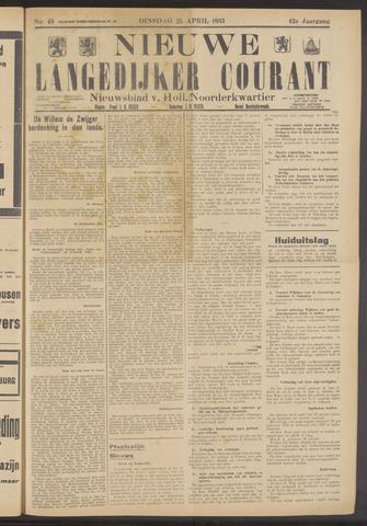 Nieuwe Langedijker Courant 1933-04-25