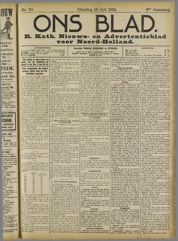 Ons Blad : katholiek nieuwsblad voor N-H 1912-07-16