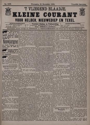 Vliegend blaadje : nieuws- en advertentiebode voor Den Helder 1884-12-31