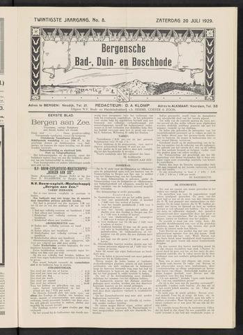 Bergensche bad-, duin- en boschbode 1929-07-20