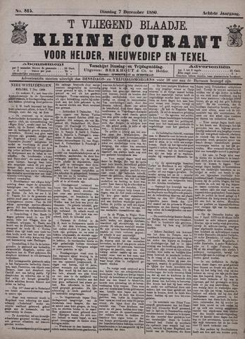 Vliegend blaadje : nieuws- en advertentiebode voor Den Helder 1880-12-07