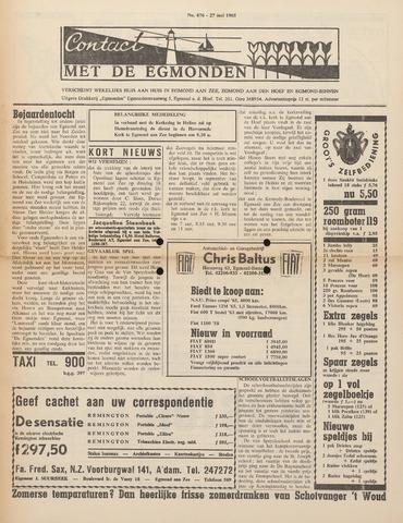 Contact met de Egmonden 1965-05-27