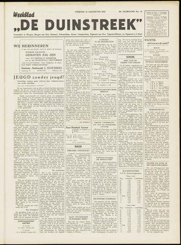 De Duinstreek 1952-08-22