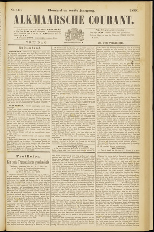 Alkmaarsche Courant 1899-11-24