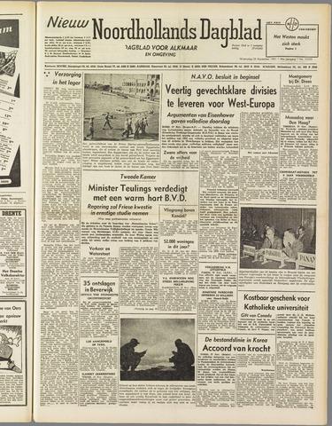 Nieuw Noordhollandsch Dagblad : voor Alkmaar en omgeving 1951-11-28