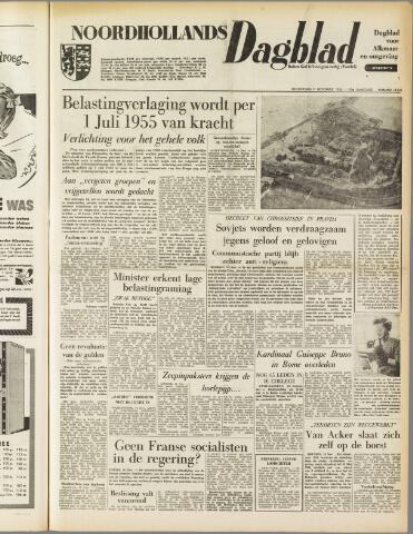 Noordhollands Dagblad : dagblad voor Alkmaar en omgeving 1954-11-11