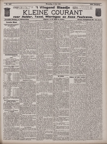 Vliegend blaadje : nieuws- en advertentiebode voor Den Helder 1913-06-04