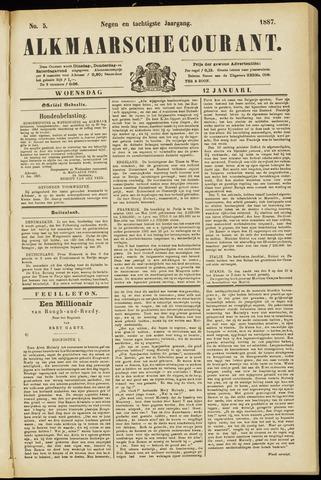 Alkmaarsche Courant 1887-01-12