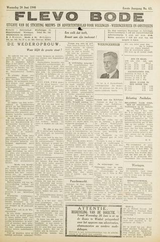 Flevo-bode: nieuwsblad voor Wieringen-Wieringermeer 1946-06-26