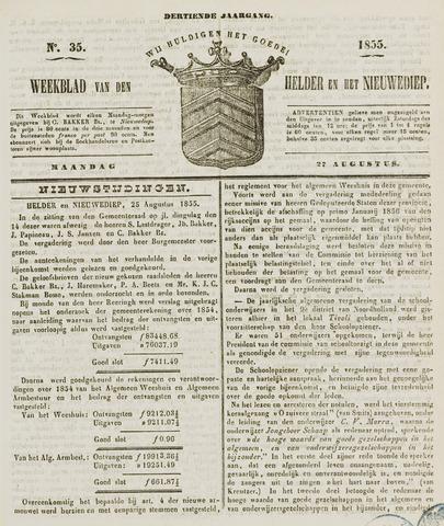 Weekblad van Den Helder en het Nieuwediep 1855-08-27