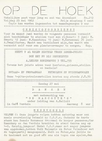 Op De Hoek, weekblad voor Akersloot 1962-05-25
