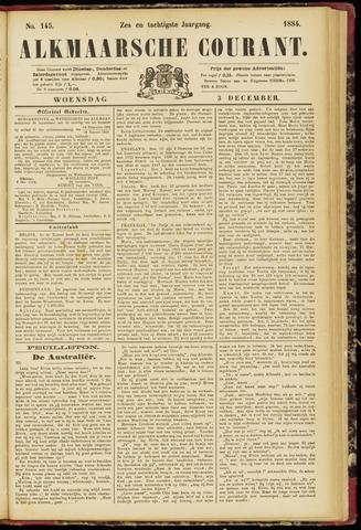 Alkmaarsche Courant 1884-12-03