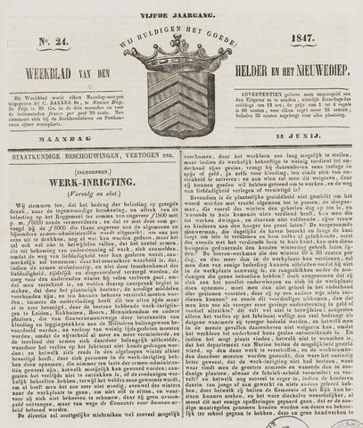 Weekblad van Den Helder en het Nieuwediep 1847-06-14