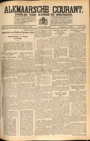 Alkmaarsche Courant 1939-08-01