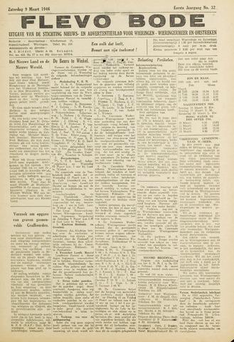 Flevo-bode: nieuwsblad voor Wieringen-Wieringermeer 1946-03-09