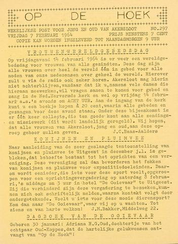 Op De Hoek, weekblad voor Akersloot 1964-02-07