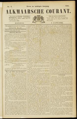 Alkmaarsche Courant 1885-01-04