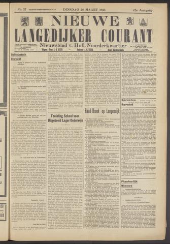 Nieuwe Langedijker Courant 1933-03-28
