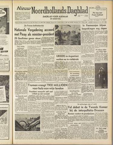 Nieuw Noordhollandsch Dagblad : voor Alkmaar en omgeving 1952-03-07