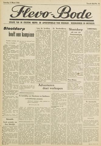 Flevo-bode: nieuwsblad voor Wieringen-Wieringermeer 1948-03-13