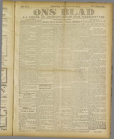 Ons Blad : katholiek nieuwsblad voor N-H 1919-08-25