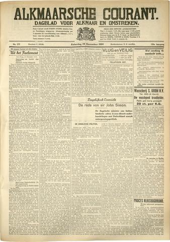Alkmaarsche Courant 1933-11-25