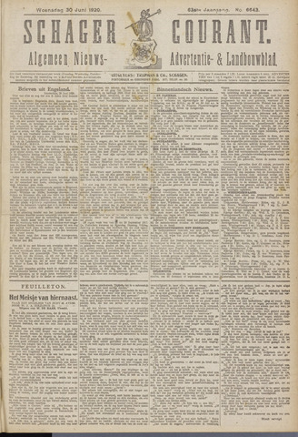 Schager Courant 1920-06-30