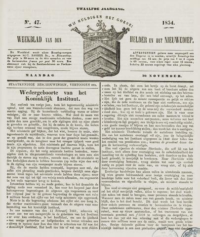 Weekblad van Den Helder en het Nieuwediep 1854-11-20