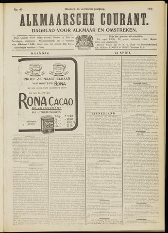 Alkmaarsche Courant 1912-04-22