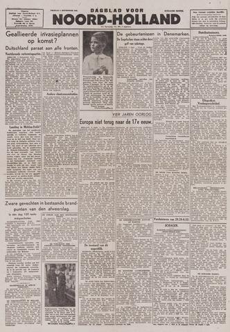 Dagblad Noord-Holland, Schager editie 1943-09-03