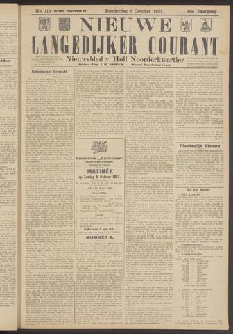 Nieuwe Langedijker Courant 1927-10-06