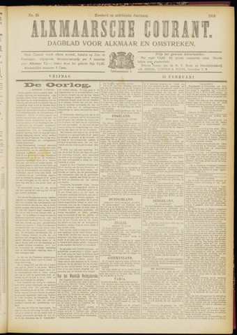 Alkmaarsche Courant 1916-02-11