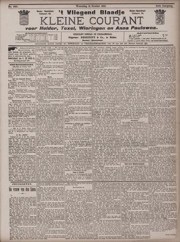 Vliegend blaadje : nieuws- en advertentiebode voor Den Helder 1903-10-21