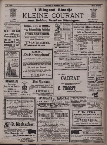 Vliegend blaadje : nieuws- en advertentiebode voor Den Helder 1900-11-24