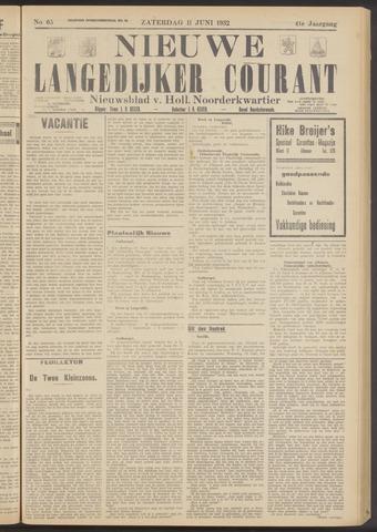 Nieuwe Langedijker Courant 1932-06-11