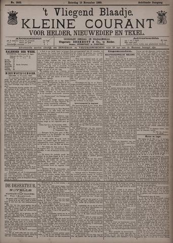 Vliegend blaadje : nieuws- en advertentiebode voor Den Helder 1890-11-15