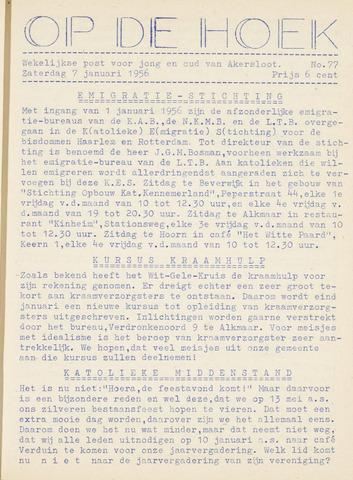 Op De Hoek, weekblad voor Akersloot 1956-01-07