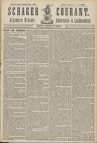 Schager Courant 1920-09-02