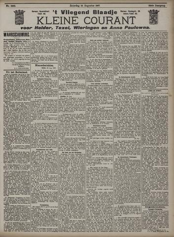 Vliegend blaadje : nieuws- en advertentiebode voor Den Helder 1907-08-24
