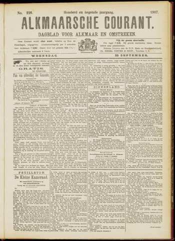 Alkmaarsche Courant 1907-09-25