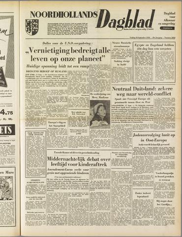 Noordhollands Dagblad : dagblad voor Alkmaar en omgeving 1953-09-18