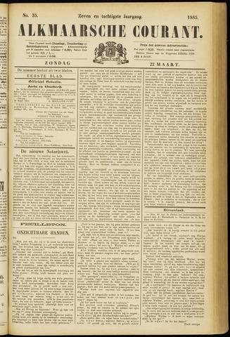Alkmaarsche Courant 1885-03-22
